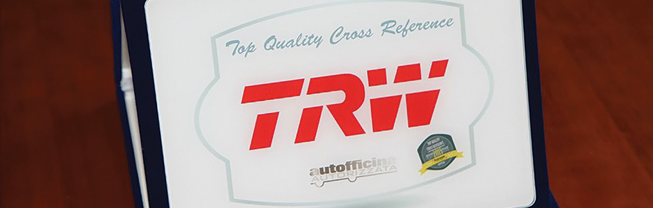 Kromeda award for TRW's brake pad OE cross reference data